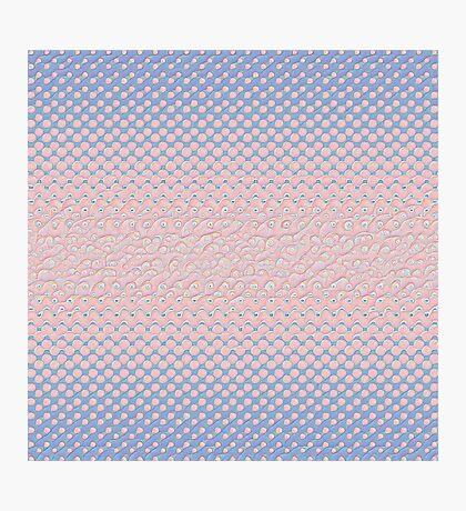 #DeepDream Color Circles Gradient Rose Quartz and Serenity 5x5K v1449298379 Photographic Print