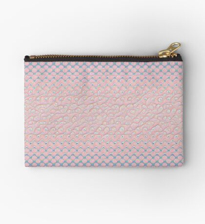 #DeepDream Color Circles Gradient Rose Quartz and Serenity 5x5K v1449298379 Zipper Pouch