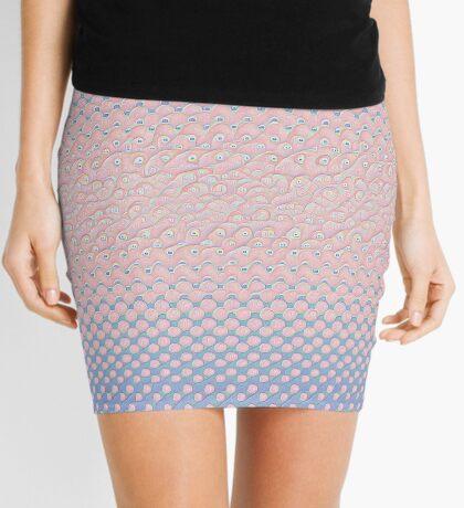 #DeepDream Color Circles Gradient Rose Quartz and Serenity 5x5K v1449298379 Mini Skirt