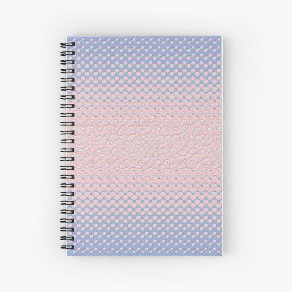 #DeepDream Color Circles Gradient Rose Quartz and Serenity 5x5K v1449298379 Spiral Notebook