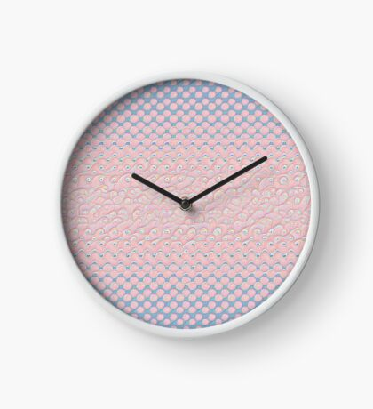 #DeepDream Color Circles Gradient Rose Quartz and Serenity 5x5K v1449298379 Clock