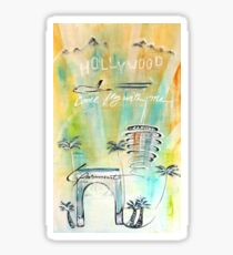Hollywood abstract  Sticker
