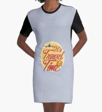 It's travel time! Graphic T-Shirt Dress