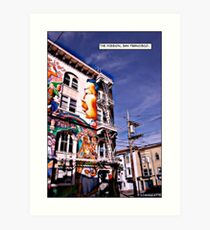 The Mission, San Francisco Comicography Art Print
