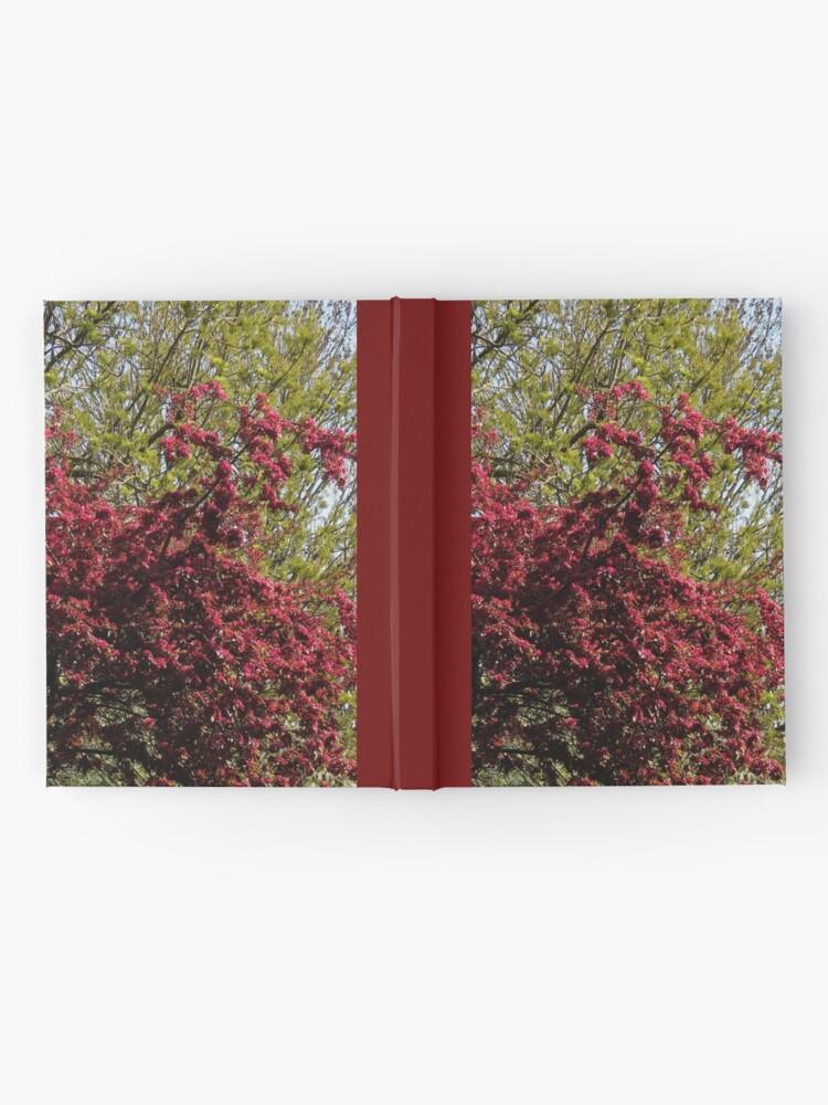 Alternative Ansicht von Baum mit roten Blüten Notizbuch