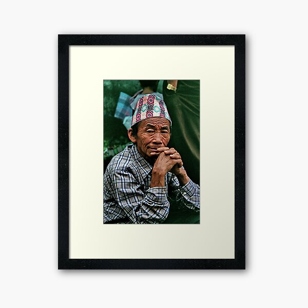 stillness. gangtok, sikkim Framed Art Print