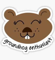 Groundhog Enthusiast  Sticker