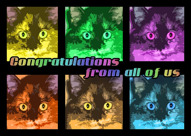 Quot Congratulations From All Of Us Quot By Nilla Haluska Redbubble