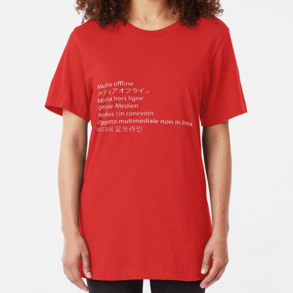 Premiere Error - Media Offline Slim Fit T-Shirt