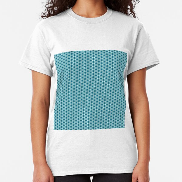 Abstract Turquoise Pattern 3 Classic T-Shirt