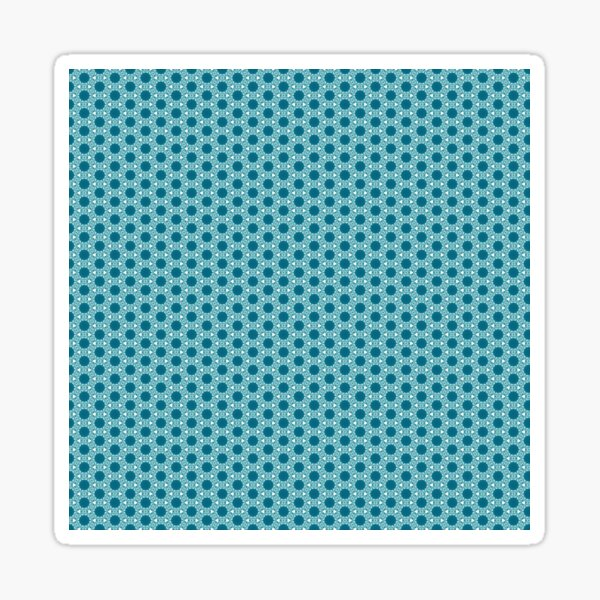 Abstract Turquoise Pattern 3 Sticker