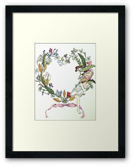 Flower Wreath and Child by Jann Ashworth