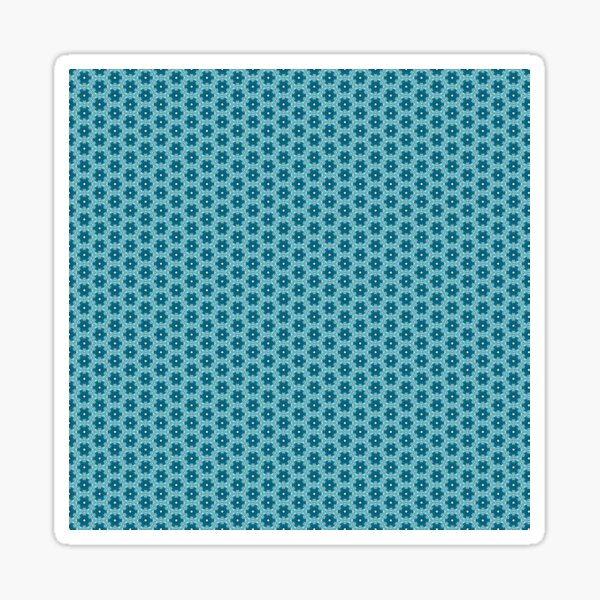 Abstract Turquoise Pattern 4 Sticker