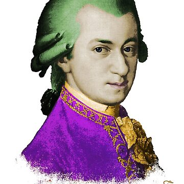 Wolfgang Amadeus Mozart by randomarthouse