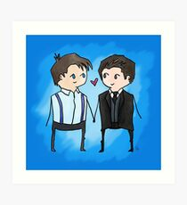 Jack And Ianto Chibis Art Print