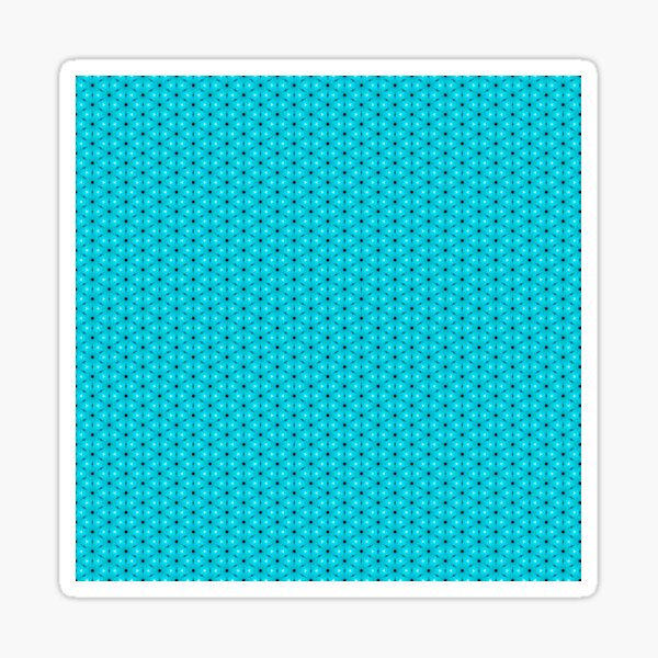 Abstract Turquoise Pattern 9 Sticker