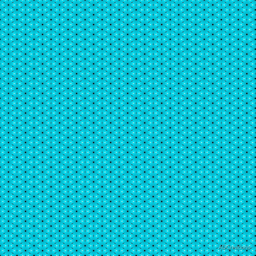 Abstract Turquoise Pattern 9 by ADCreations
