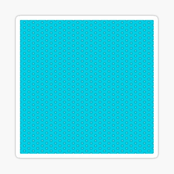 Abstract Turquoise Pattern 10 Sticker