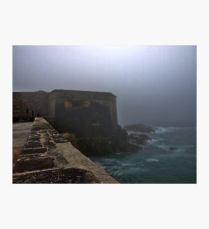 Fort Grosnez in the Fog - Alderney Photographic Print