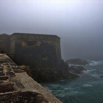 Fort Grosnez in the Fog - Alderney by NeilAlderney