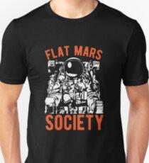 Flacher Mars-Gesellschafts-Wissenschafts-Liebhaber-T-Shirt für Astronomie-Kursteilnehmer Unisex T-Shirt