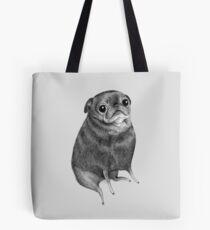 Sweet Black Pug Tote Bag