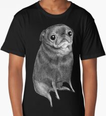 Sweet Black Pug Long T-Shirt