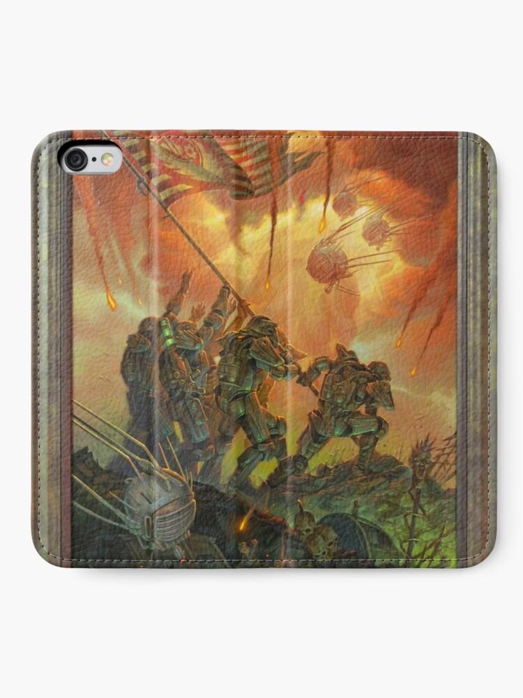 Alternative Ansicht von Fallout-Bruderschaft des Stahls Victory Fan Art Poster iPhone Flip-Case