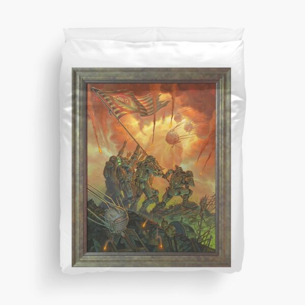 Fallout Brotherhood of Steel Victory Fan Art Poster  Duvet Cover