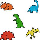 Dinosaurs Primary Colours by Chanel McKayla