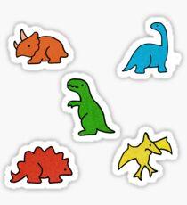 Primäre Farben der Dinosaurier Sticker
