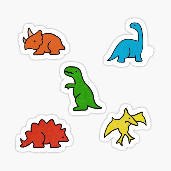 Dinosaurs Primary Colours Sticker