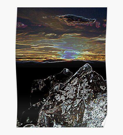 Rock Art Sunset Poster