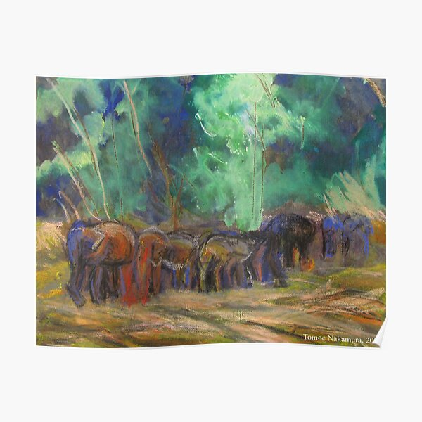 Chan Mai Elephants Poster