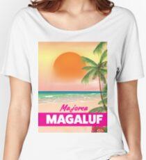 Magaluf Majorca beach travel poster Women's Relaxed Fit T-Shirt