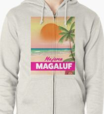 Magaluf Majorca beach travel poster Zipped Hoodie