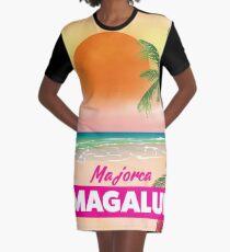 Magaluf Majorca beach travel poster Graphic T-Shirt Dress
