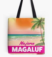 Magaluf Majorca beach travel poster Tote Bag