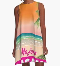 Magaluf Majorca beach travel poster A-Line Dress