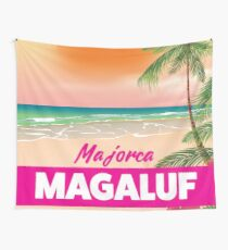 Magaluf Majorca beach travel poster Wall Tapestry