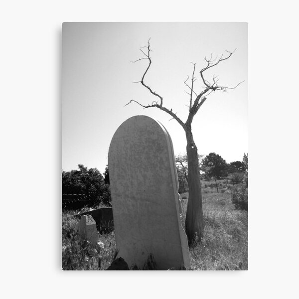 Tombstone Tree Metal Print