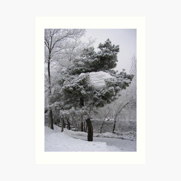 Tree Glacier Art Print