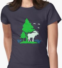 Moose and Tree Women's Fitted T-Shirt