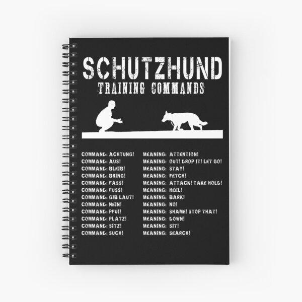 Schutzhund - Comandos de entrenamiento de perros en alemán Cuaderno de espiral