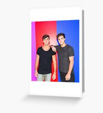 Cool Twins Greeting Card