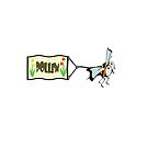 Bee pulling a banner with the word pollen. by funkyworm