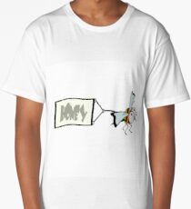 Bee pulling a banner with the word honey. Long T-Shirt
