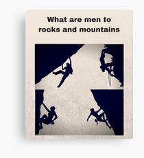 Rock Climbing and Mountaineering Canvas Print