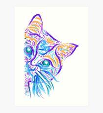 Lámina artística Dibujo del tatuaje del gato