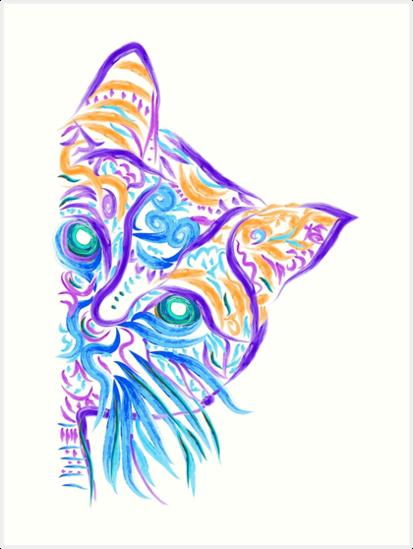 «Dibujo del tatuaje del gato» de Nora Gad